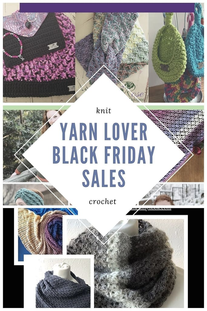 collection of images that represent crochet patterns on sale for black friday